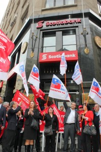 apoyo huelga scotiabank