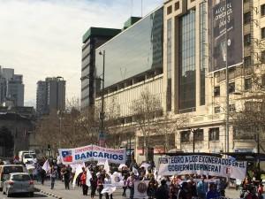Bancarios en March NO+AFP